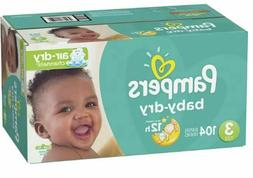 Pampers Baby Dry Diapers, Size 3, 104 Count