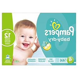 Pampers Baby-Dry Disposable Diapers Size 4, 144 Count, ECONO