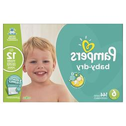 Pampers Baby-Dry Diapers, Size 6, 144 Count