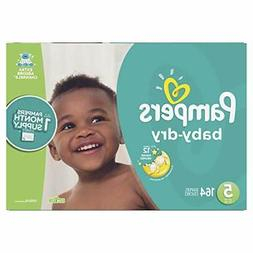 Pampers Baby Dry Disposable Baby Diapers, Size 5,164 Count,