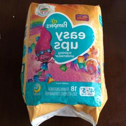 PAMPERS EASY UPS TRAINING UNDERPANTS, SIZE 4T-5T, GIRLS, 18