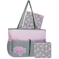 Tender Kisses Elephant 3 in 1 Diaper Bag
