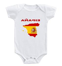 Speedy Pros Espana Spain Infant Toddler Baby Bodysuit One Pi