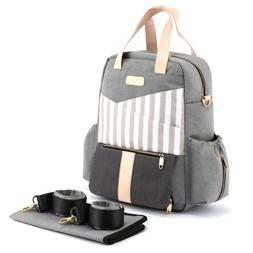 Fashion Diaper  Shoulder Backpack Baby Nappy Bag with Changi