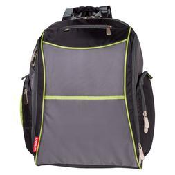 Fisher-Price FastFinder Sturdy Nylon Diaper Backpack, Black/