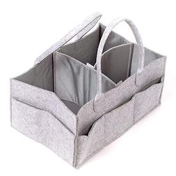 Felt Diaper Caddy Storage Organizer | Size-Changeable Waterp