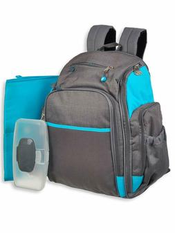 Fisher Price Kaden 3-Piece Diaper Backpack Gray, one Size
