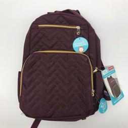 Fisher Price Morgan Diaper Bag Backpack - Maroon