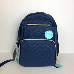Fisher Price Morgan Quilted Navy Blue Backpack Diaper Bag Ne