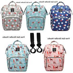 LEQUEEN Mummy Baby Diaper Bag Backpack Shoulder Bag with Str