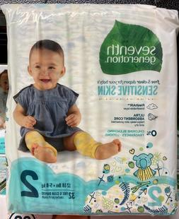 Seventh Generation Free & Clear Diapers - Size 2, 32 Count