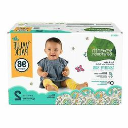 Seventh Generation Free & Clear Diapers, Size 2 44141