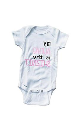 Baby Tee Time Girls' My Auntie is the shiznit funny One piec