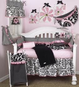 Cotton Tale Designs Girly 8 Piece Nursery Crib Bedding Set -