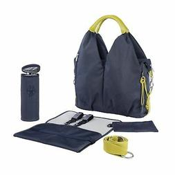 Lassig Womens Green Label Neckline Diaper Bag - Denim Blue