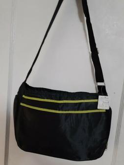 Hobo Diaper Bag in Black / Avocado