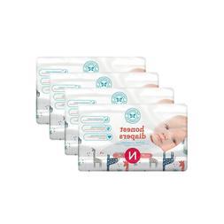 Honest Baby Diapers, Multi Colored Giraffes, Size 0 Newborn,