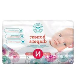 Honest Baby Diapers Rose Blossom Size 0 Newborn 40 Count