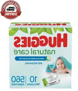 HOT HUGGIES Refreshing Clean Scented Baby Wipes, Hypoallerge
