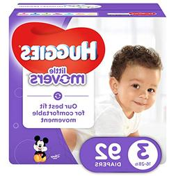 Huggies Little Movers Size 3 Super Pack - 92 Count