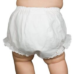 I.C. Collections Baby Girls White Double Seat Diaper Cover B