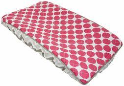 Bacati Ikat Zigzag Grey & Pink Dot Changing Pad Cover