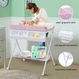 Infant Baby Bath Changing Table Diaper Station Nursery Organ