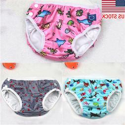 Infant Baby Boys Girls Leakproof Swim Diaper Nappy Pants Reu