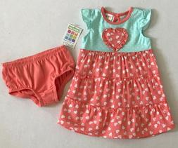 Healthtex Infant Baby Girl 2 Pc Set Dress w/Diaper Cover NB/