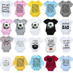Infant Baby Girl Boy Long Sleeve Letter Print Clothes Jumpsu