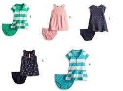 Nautica Infant Baby Girl's Dress with Diaper Cover Classic S
