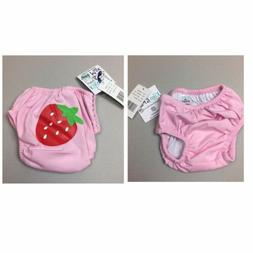 Kiko & Max Baby Girls' Reusable Swim Diaper Covers, Strawber