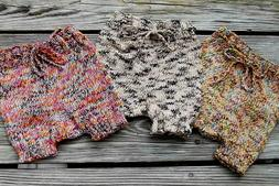 Handmade Knitted Baby Diaper Covers Pants Boy or Girl 6-12 M