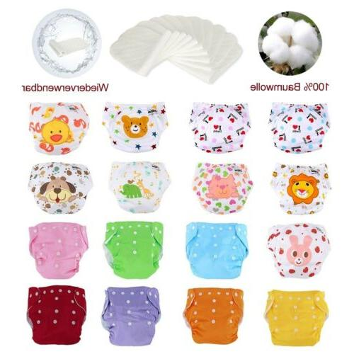 Adjustable Reusable Baby Washable Cloth 5 Diapers