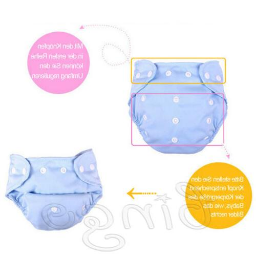 Adjustable Baby Cloth Diaper 5 Diapers +5 Inserts