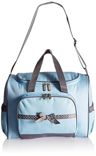 Baby Essentials 4 in 1 Duffel Diaper Bag, Blue/Grey