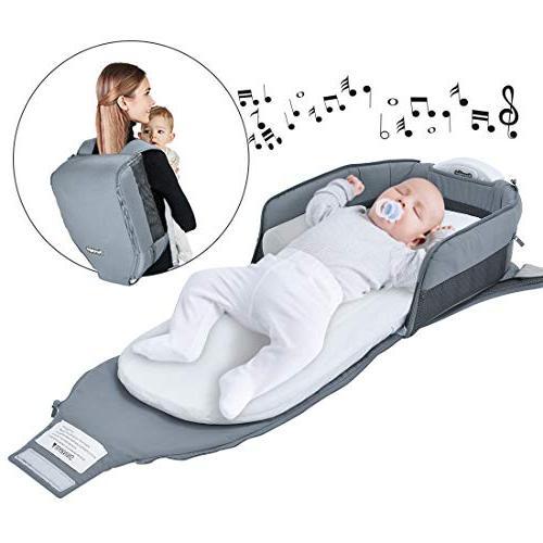 1 portable bassinet foldable bed