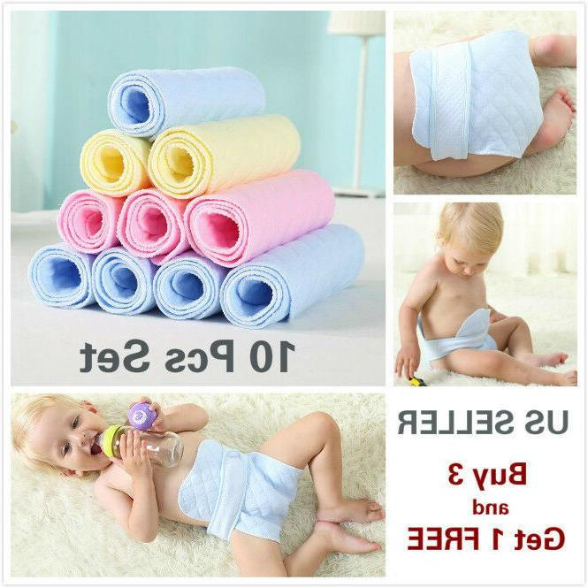 10 pcs 3 layer prefold reusable eco