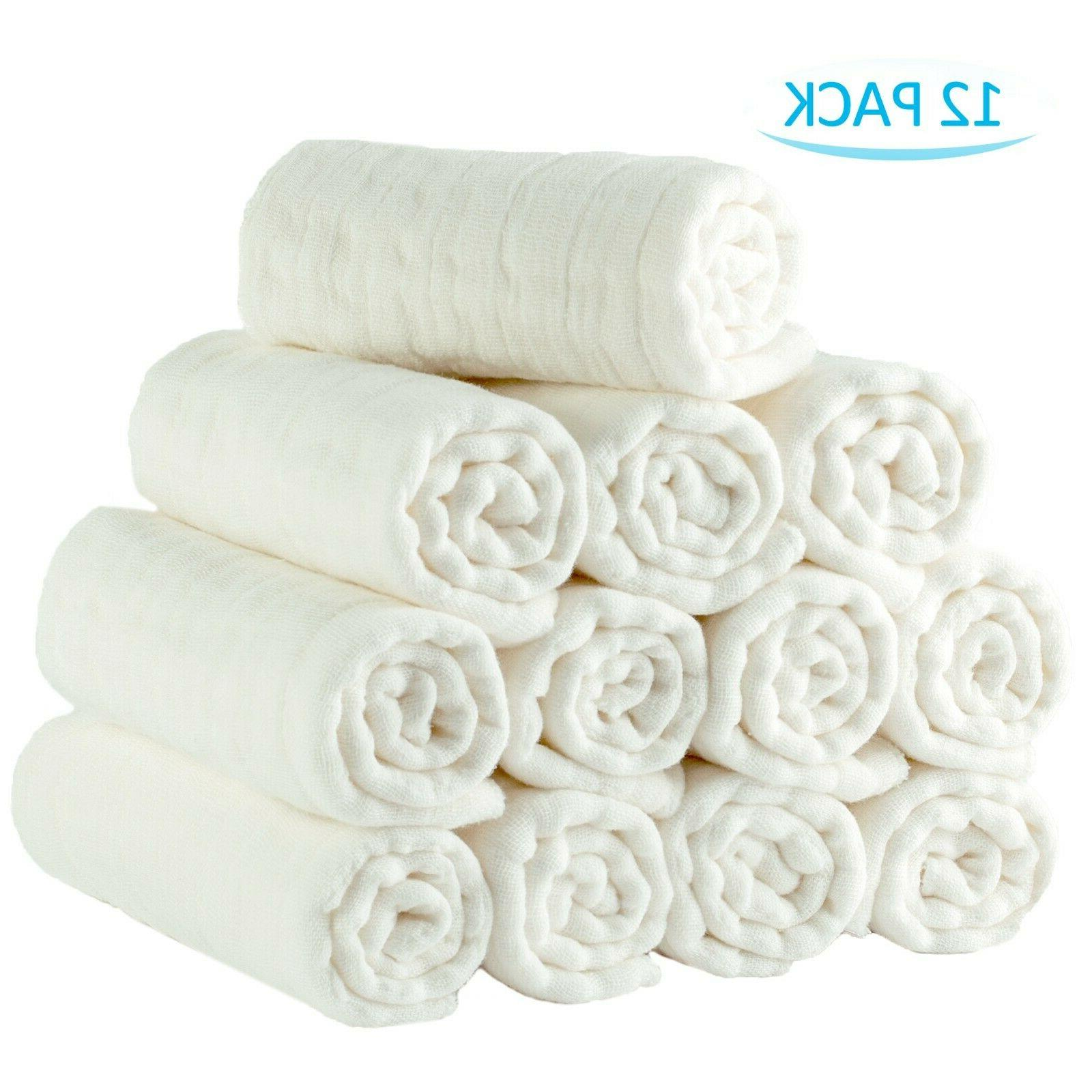 100 percent cotton baby diapers 12 pack