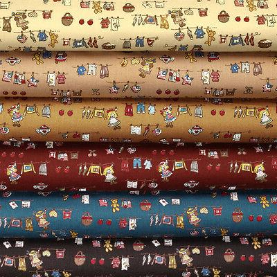 100 percent cotton fabric fq baby bear