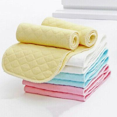 10 Piece Reusable Baby Diapers Cloth Diaper Inserts 3 Layer