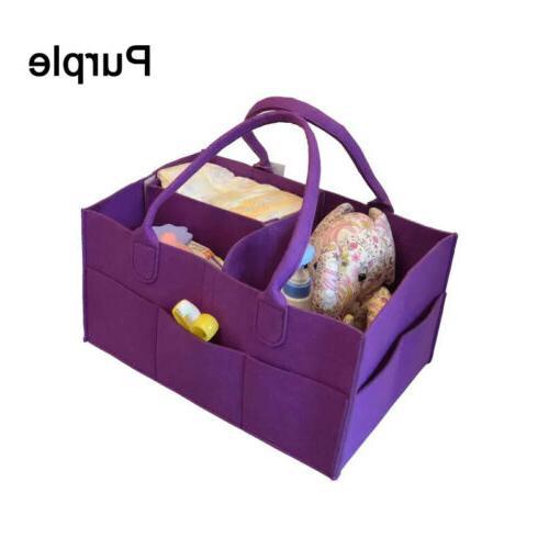 1x Baby Bag Caddy Infant Nappy Basket