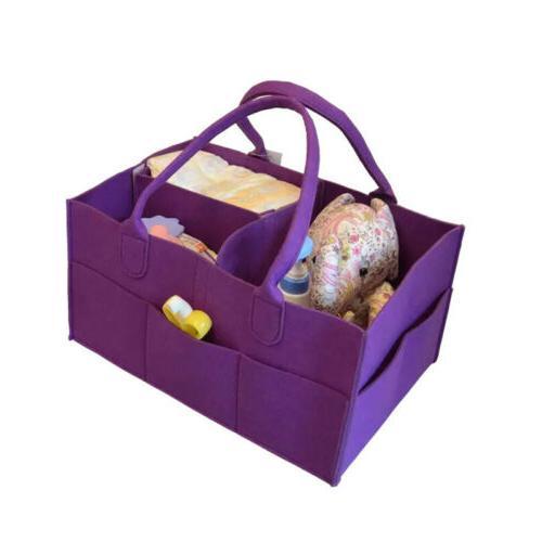 1x Baby Diaper Bag Caddy Nursery Storage Infant Basket