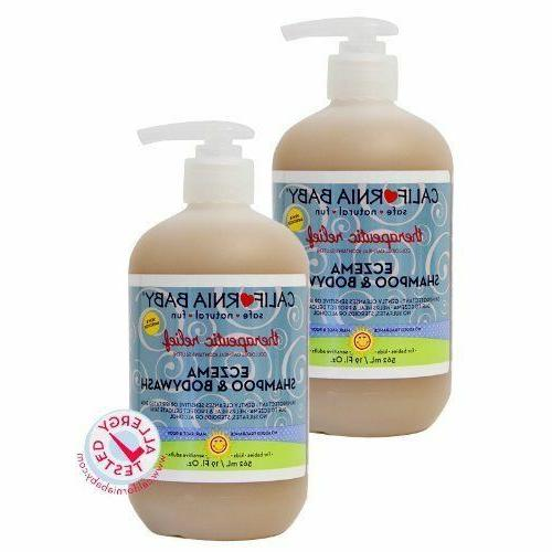 2 pack therapeutic relief eczema shampoo