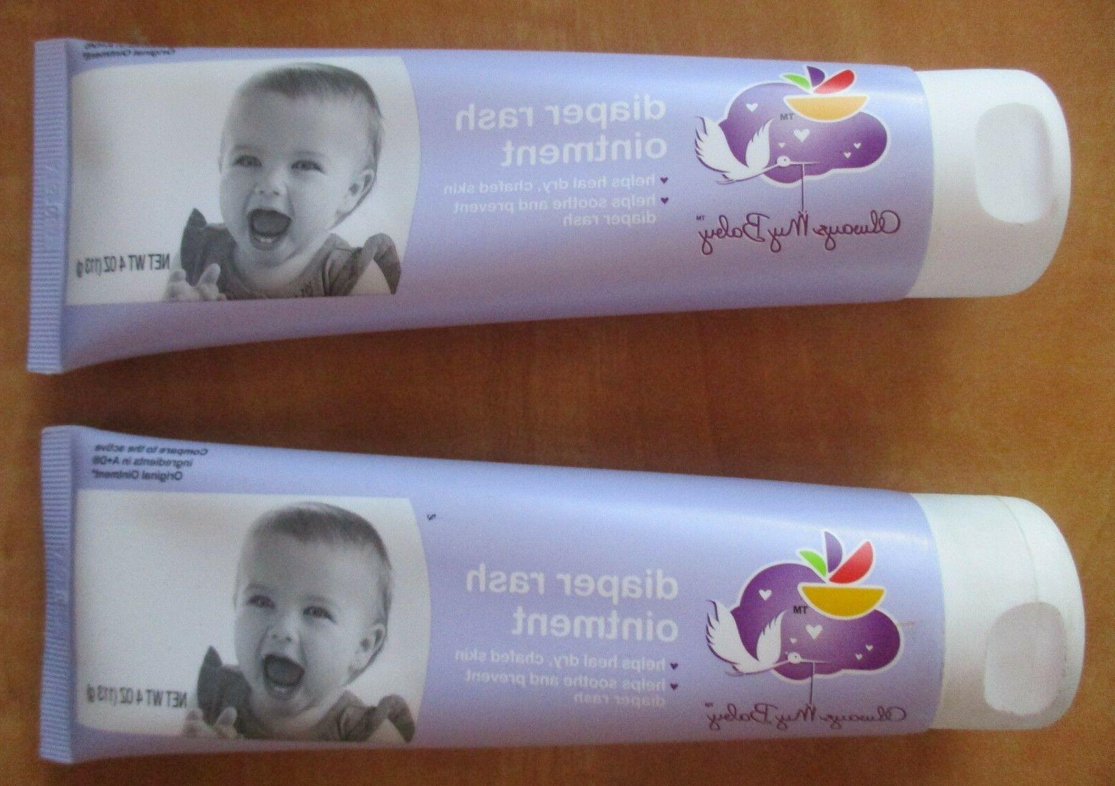 2 tubes diaper rash ointment soothes dry