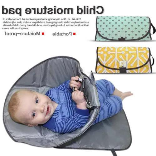 3-IN-1 Baby Foldable Waterproof Clutch Change Diaper