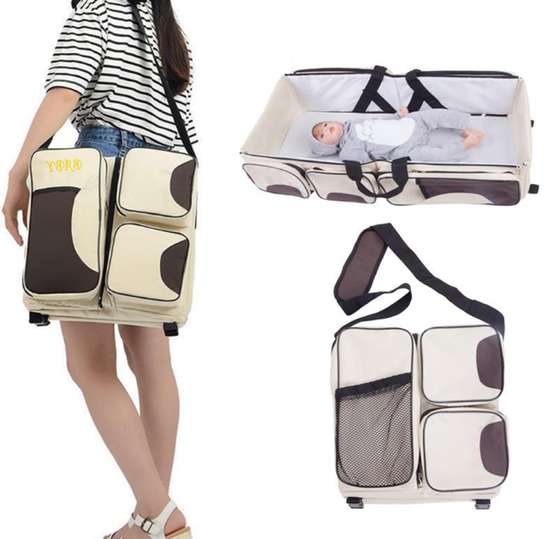 3 Tote Travel Nappy Baby Bed