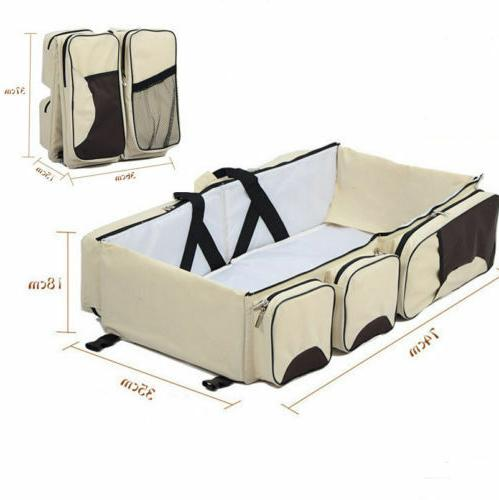 3 Tote Bag Travel Nappy Changing Baby Bed