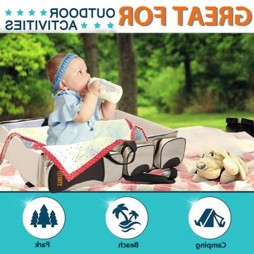 3 1 Diaper Tote Bag Travel Nappy Changing Station Carrycot Baby