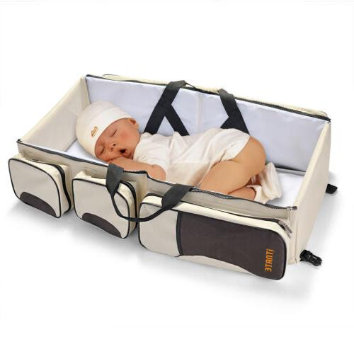3 Tote Travel Bassinet Nappy Baby